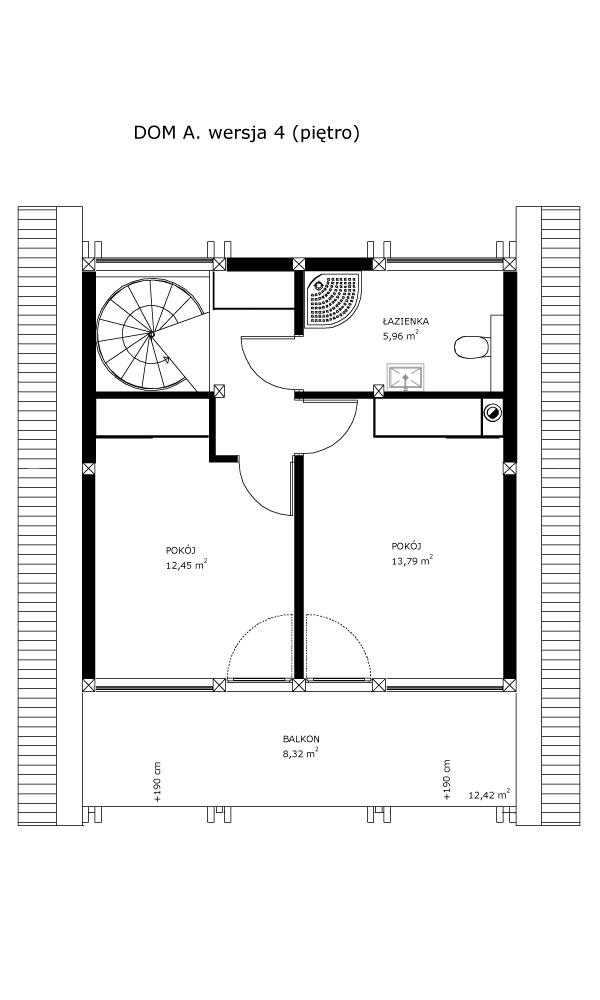 Dom A, wersja 4 (piętro)