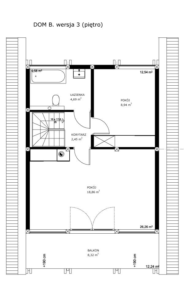 Dom B, wersja 3 (piętro)